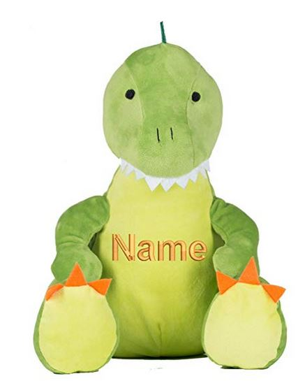 Personalised Embroidered Mumbles Green Dinosaur(Teddy Bear)Any Name