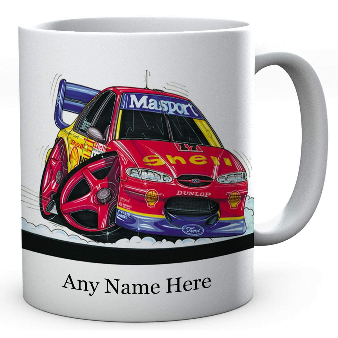 Personalised FALCON ATCC (JOHNSON) RED / YELLOW LIVERY (0163)Ceramic Mug