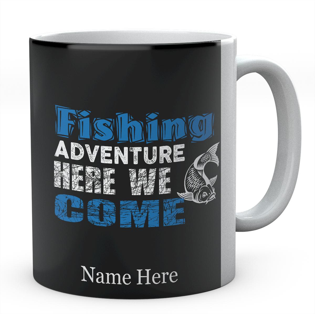 Personalised Fishing Adventure Here We Come Mug