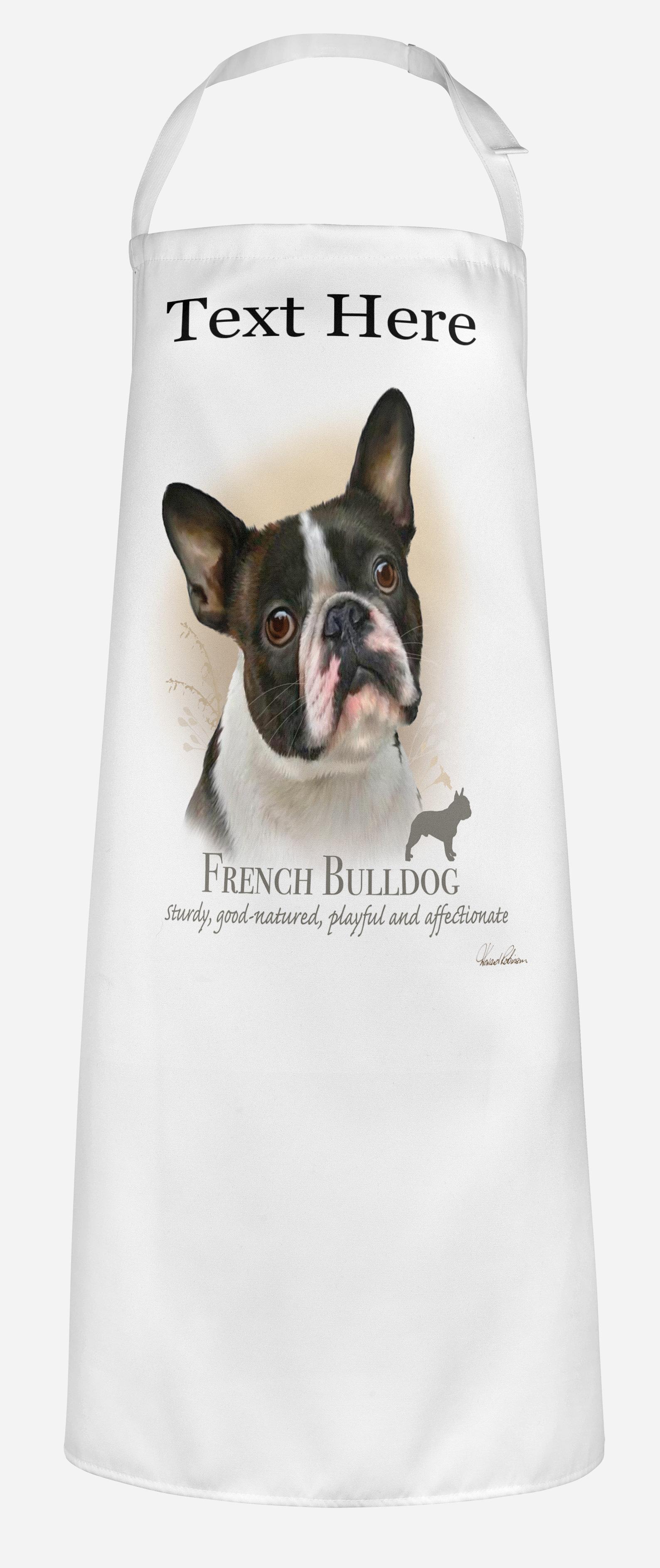 Personalised French Bulldog Dog Apron.
