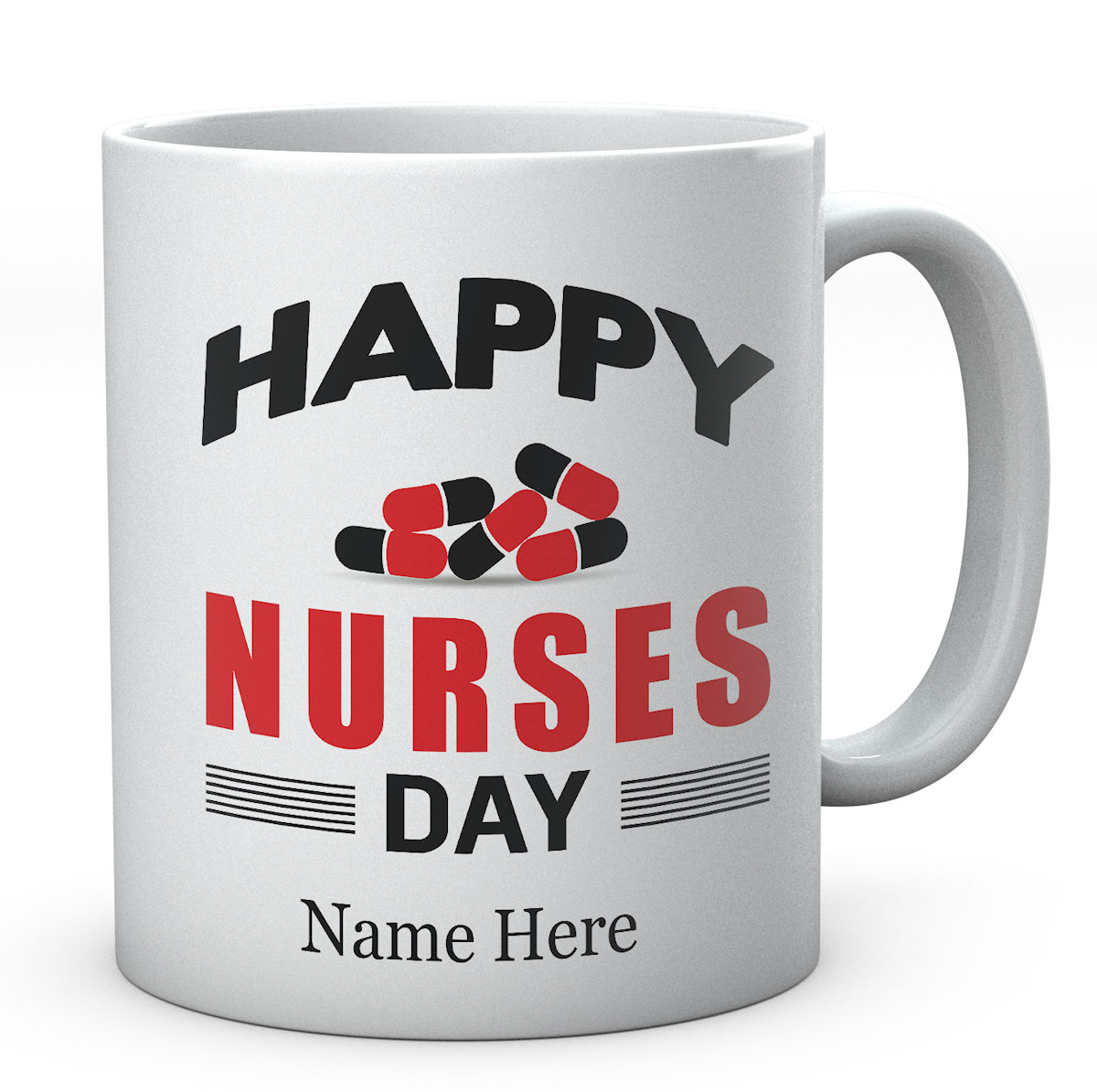Personalised Happy Nurses Day Mug