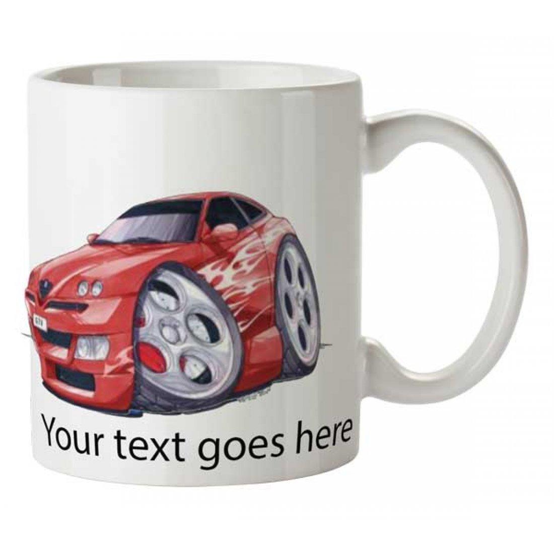 Personalised Koolart  GTV Tuning Red Mug (2790)