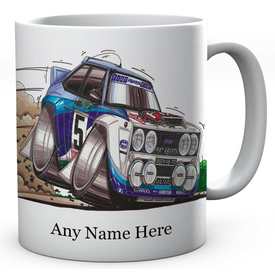 Personalised Koolart 131 ABARTH RALLY BLUE / WHITE Ceramic Mug