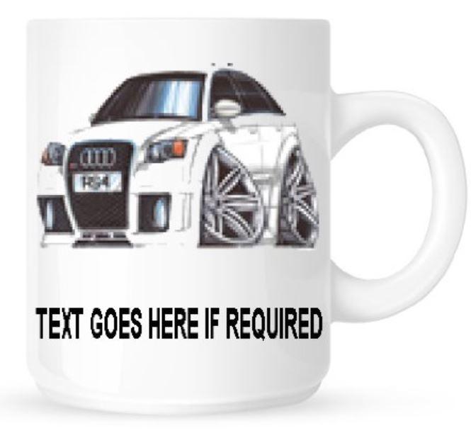 Personalised Koolart 3030 AUDI RS4 Ceramic Mug