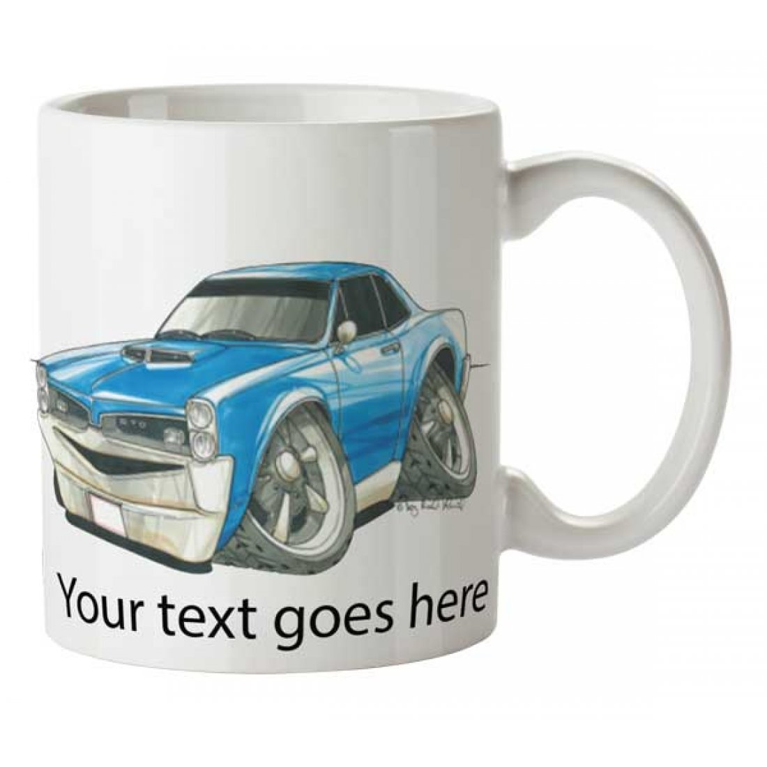 Personalised Koolart Pontiac GTO (1741)Ceramic Mug
