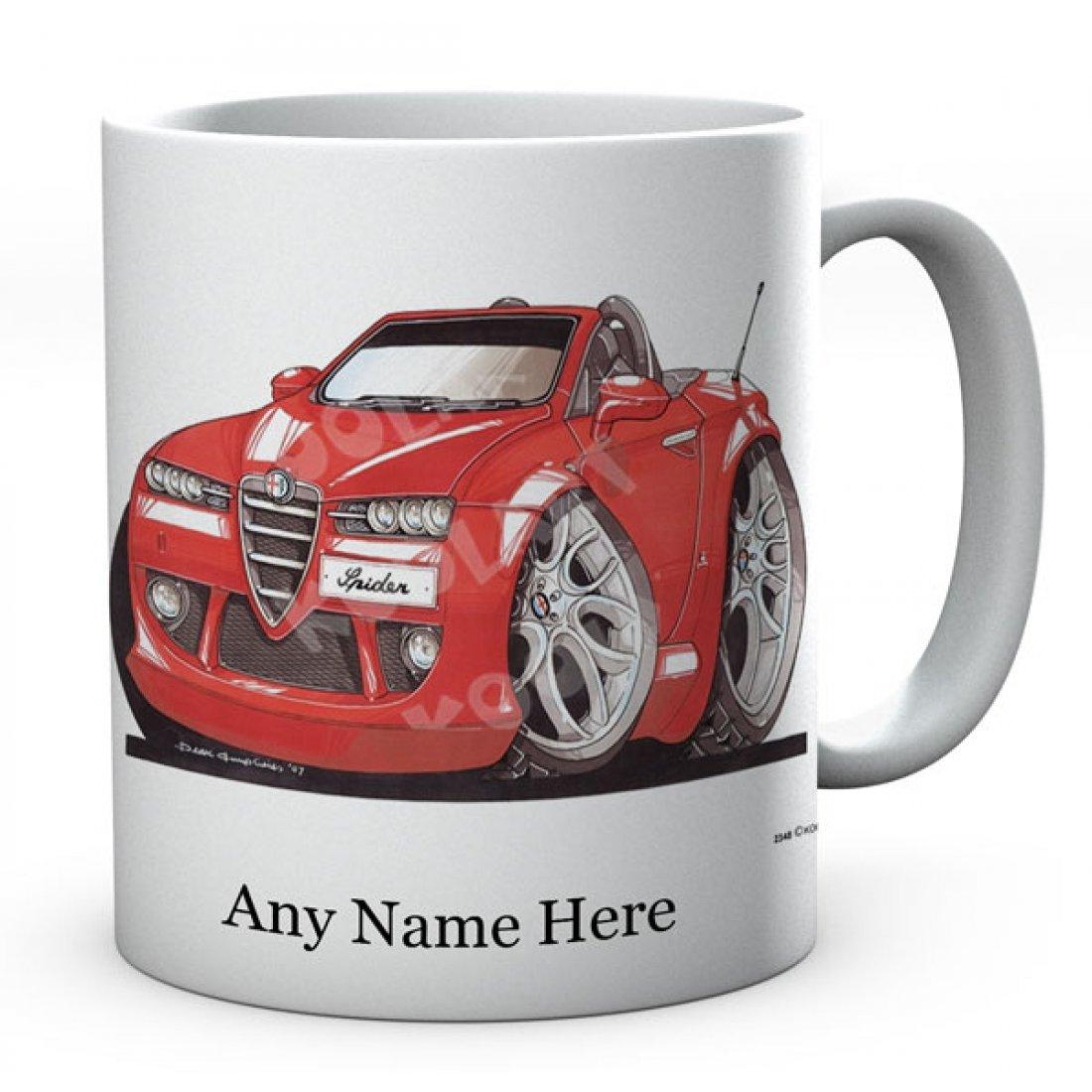 Personalised Koolart Spider Red (2348)Ceramic Mug