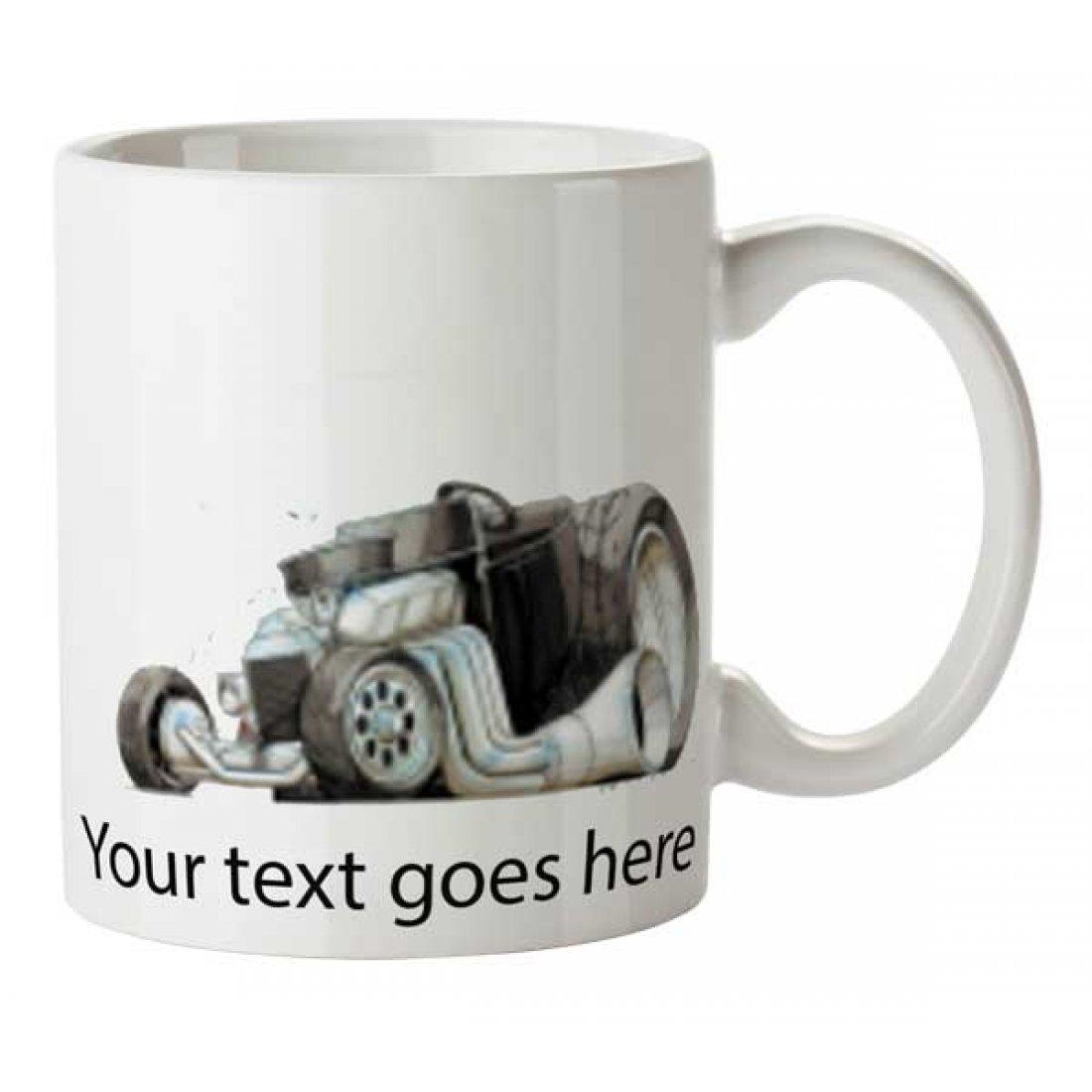 Personalised Koolart T-BUCKET HOT ROD (1304)Ceramic Mug