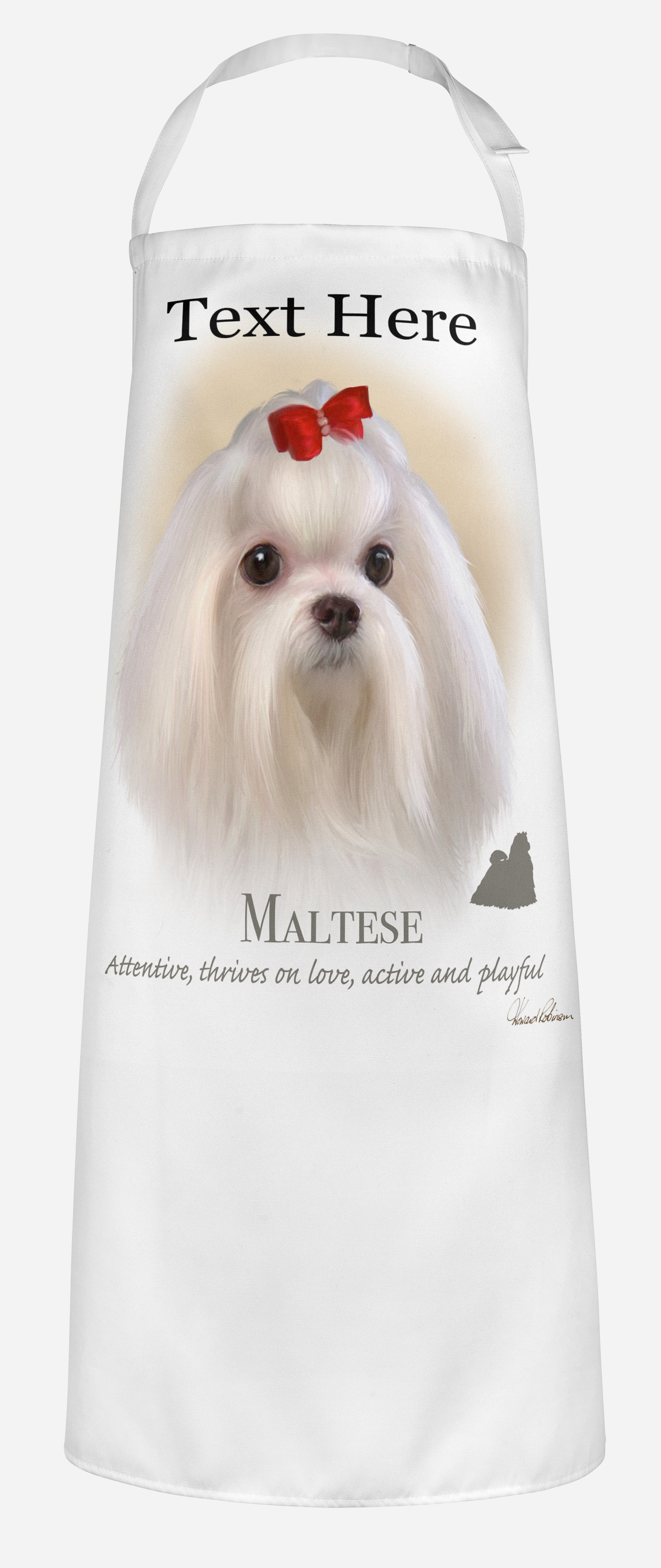 Personalised Maltese Dog Apron