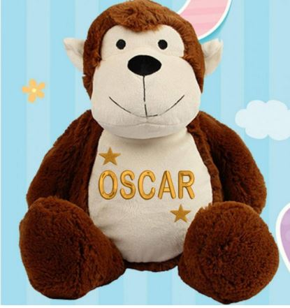 Personalised Monkey/Star Teddy Bear