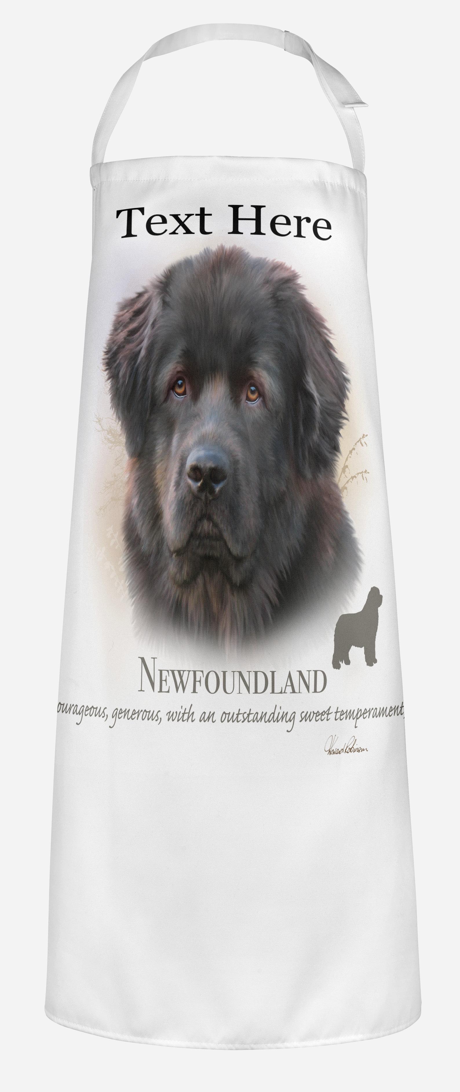 Personalised Newfoundland Dog Apron