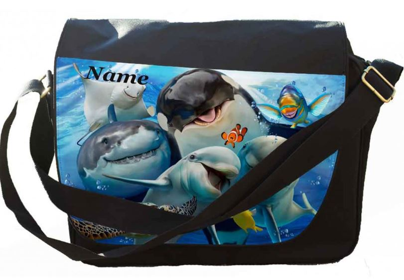 Personalised Ocean Selfie Messenger/Reporters Bag.