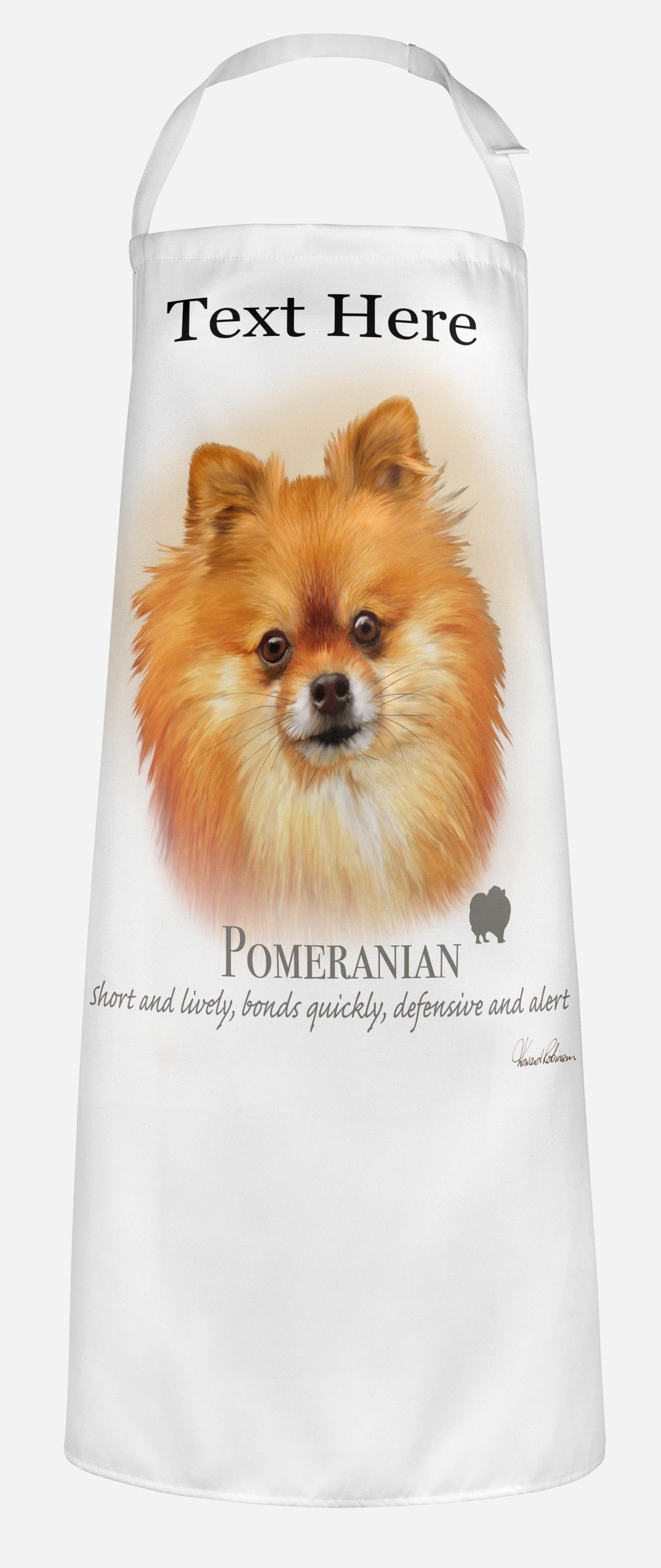 Personalised Pomeranian Dog Apron.