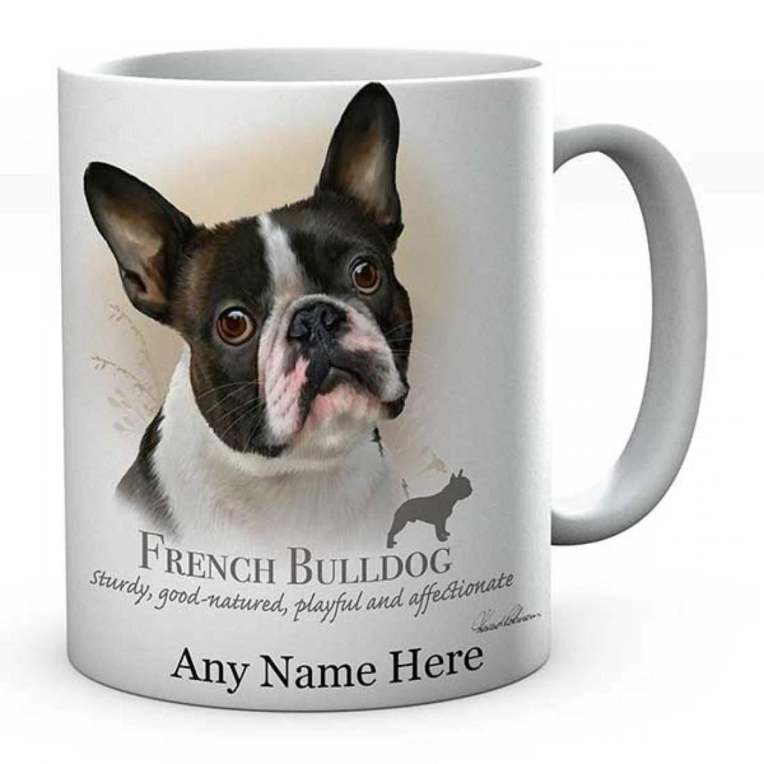 Personalised Printed  French-Bulldog Dog Ceramic Mug