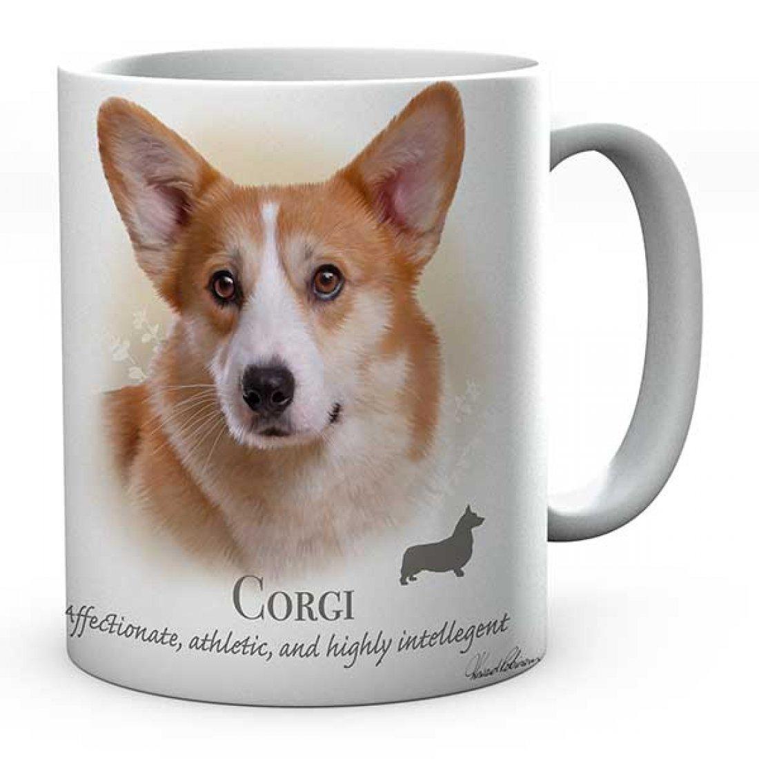 Personalised Printed Corgi Dog Ceramic Mug
