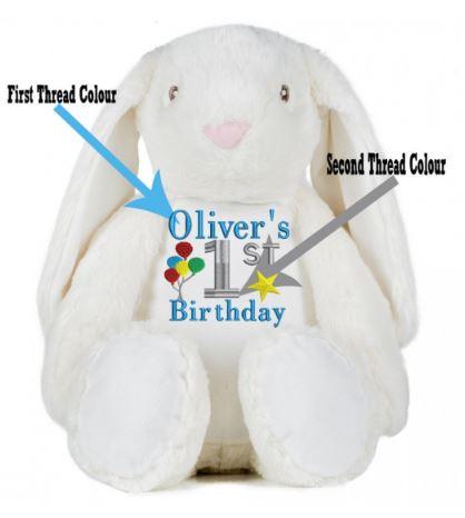 Personalised Rabbit Teddy Bear (Birthday )