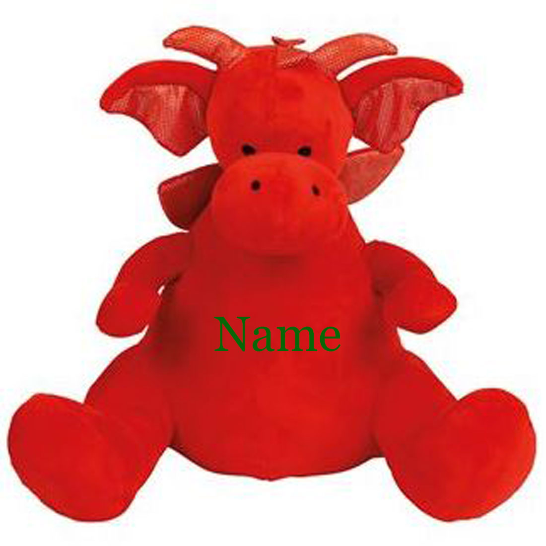 Personalised Red Dragon Teddy Bear With Any Name