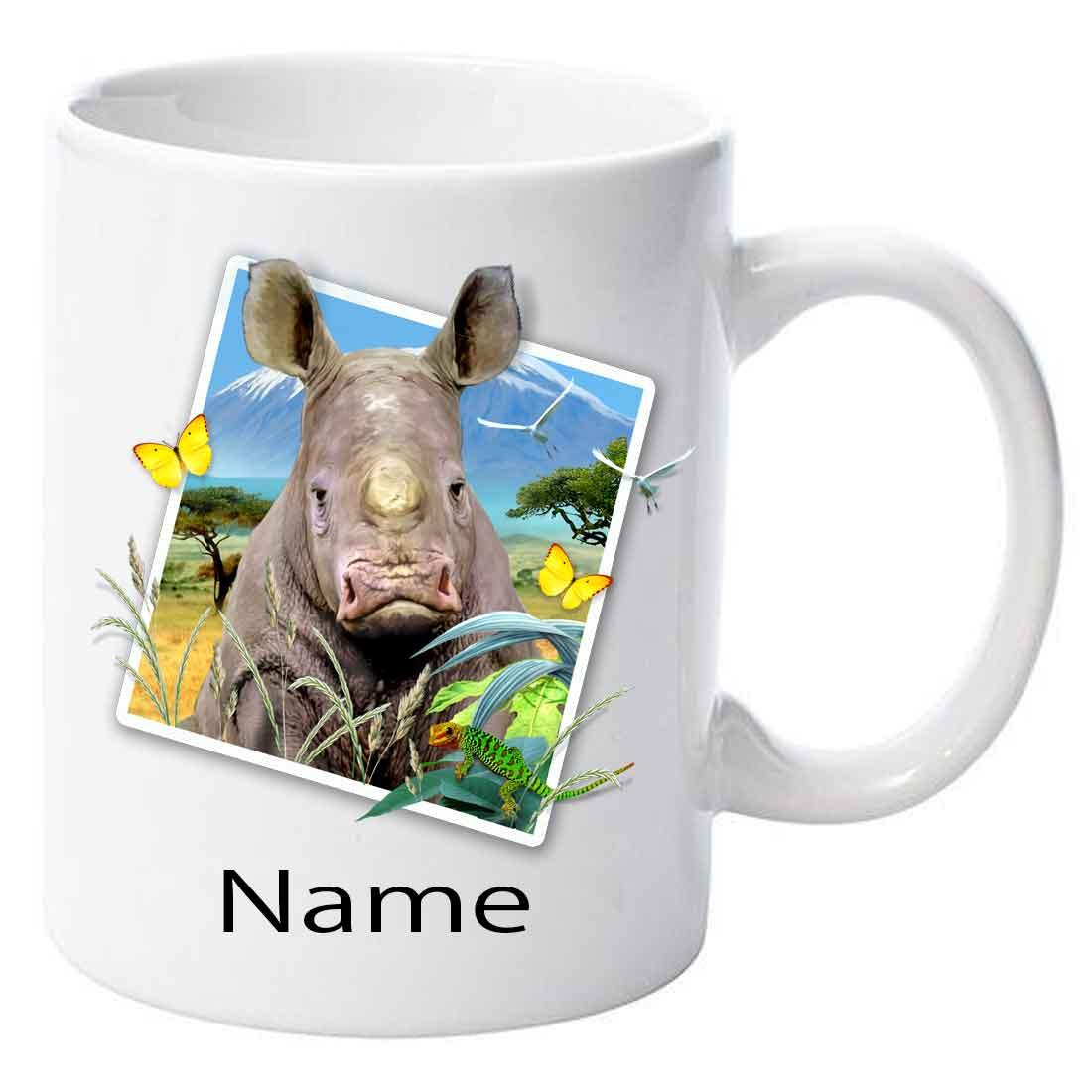 Personalised Rhino 1 Selfie Ceramic Mug
