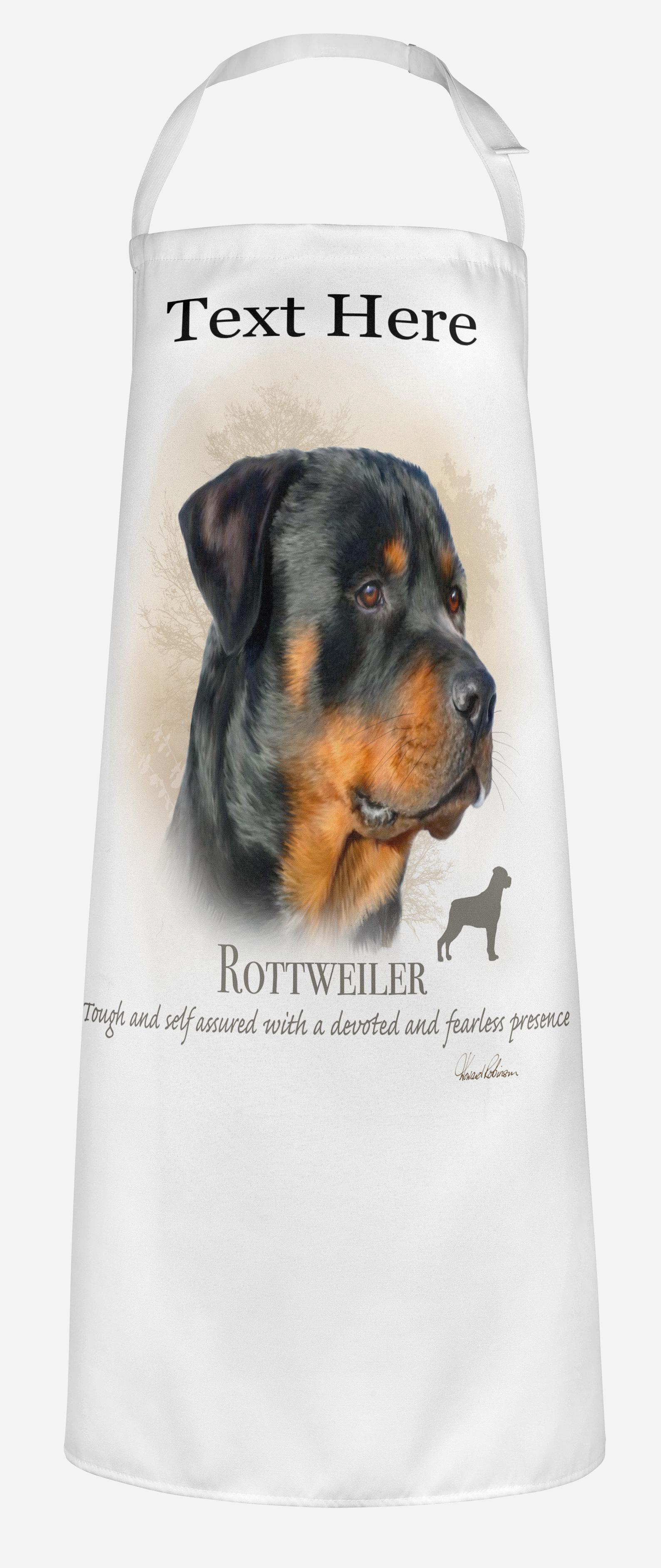 Personalised Rottweiler Dog Apron.