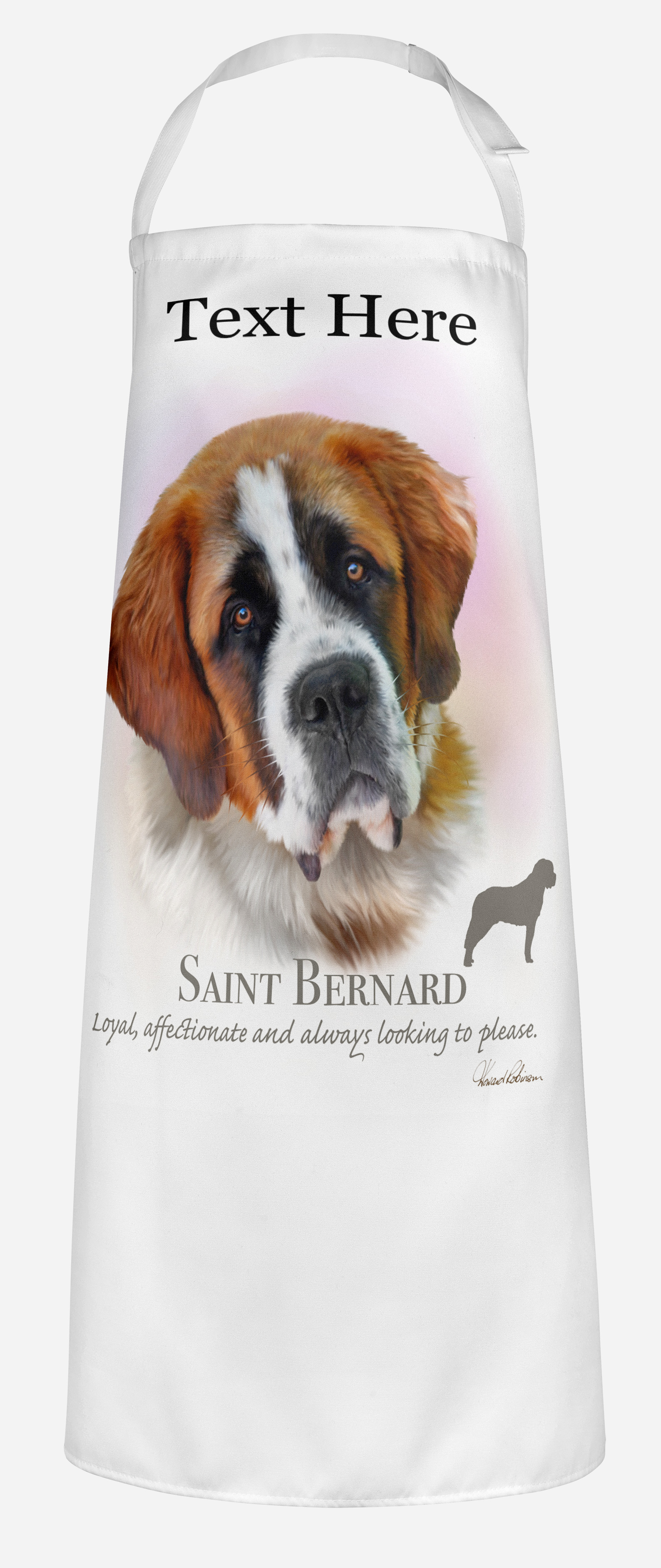 Personalised Saint Bernard Dog Apron.