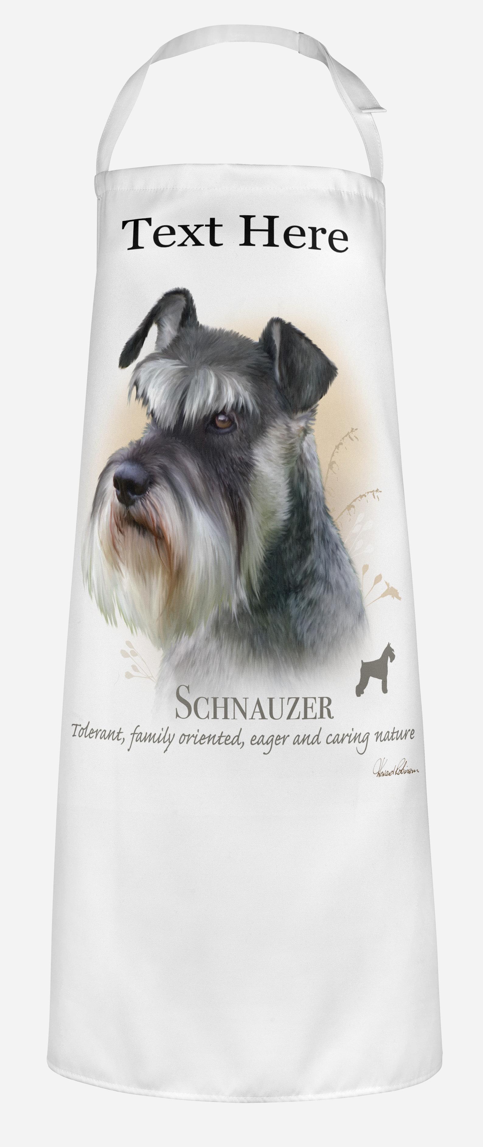 Personalised Schnauzer Dog Apron.