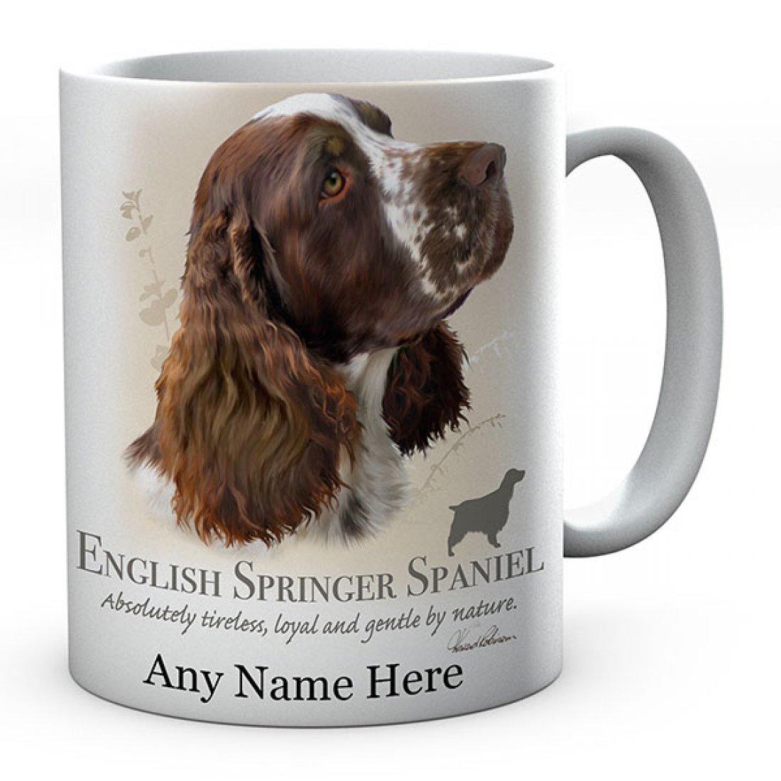 Personalised Springer brown Dog Mug