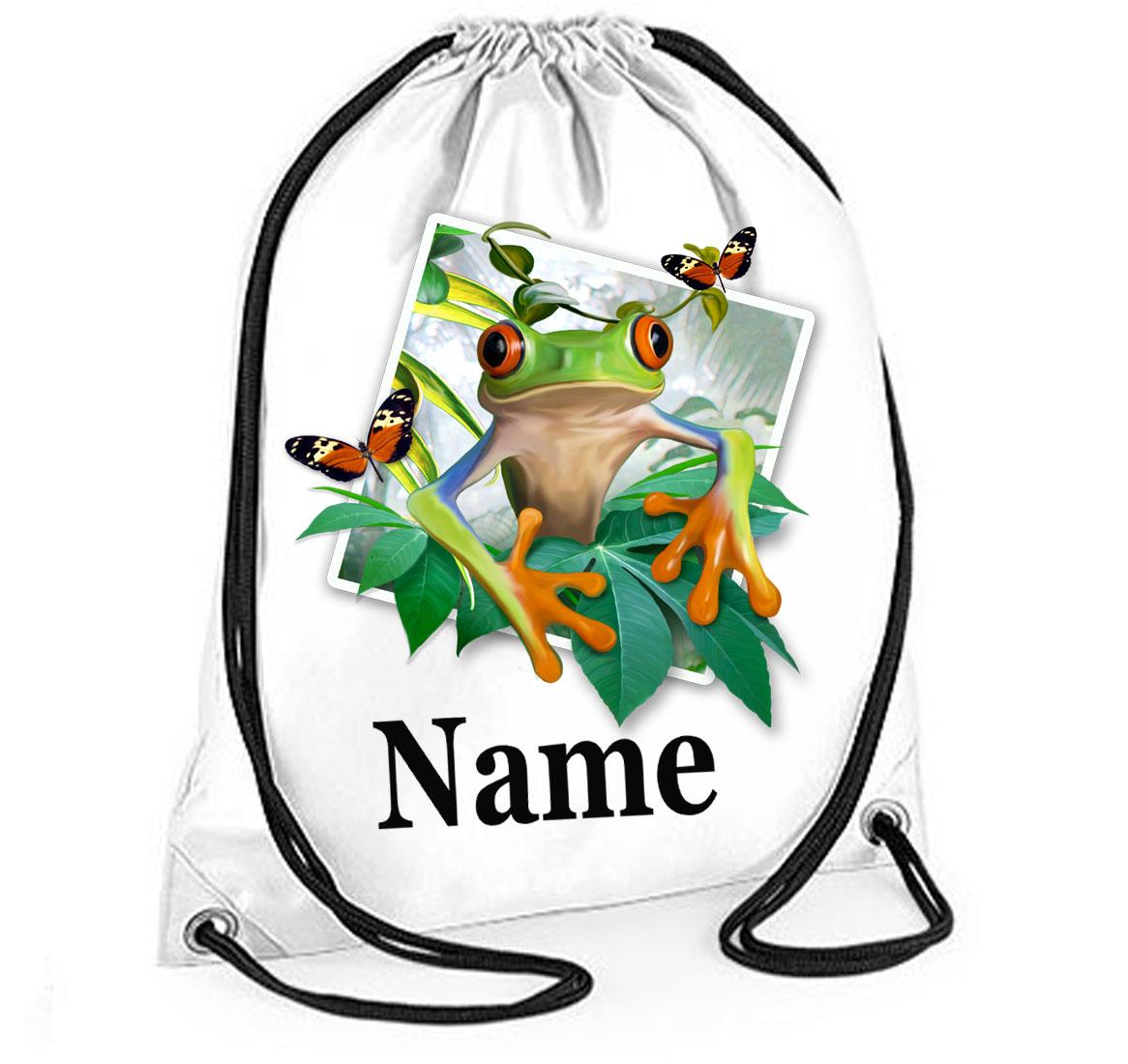 Personalised Tree Frog Selfie Gym Bag