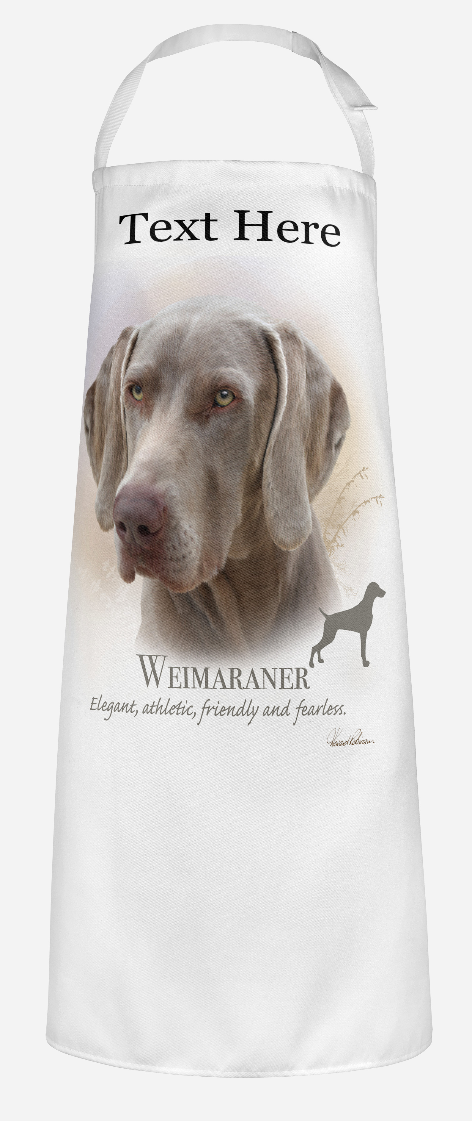 Personalised Weimaraner Dog Apron.