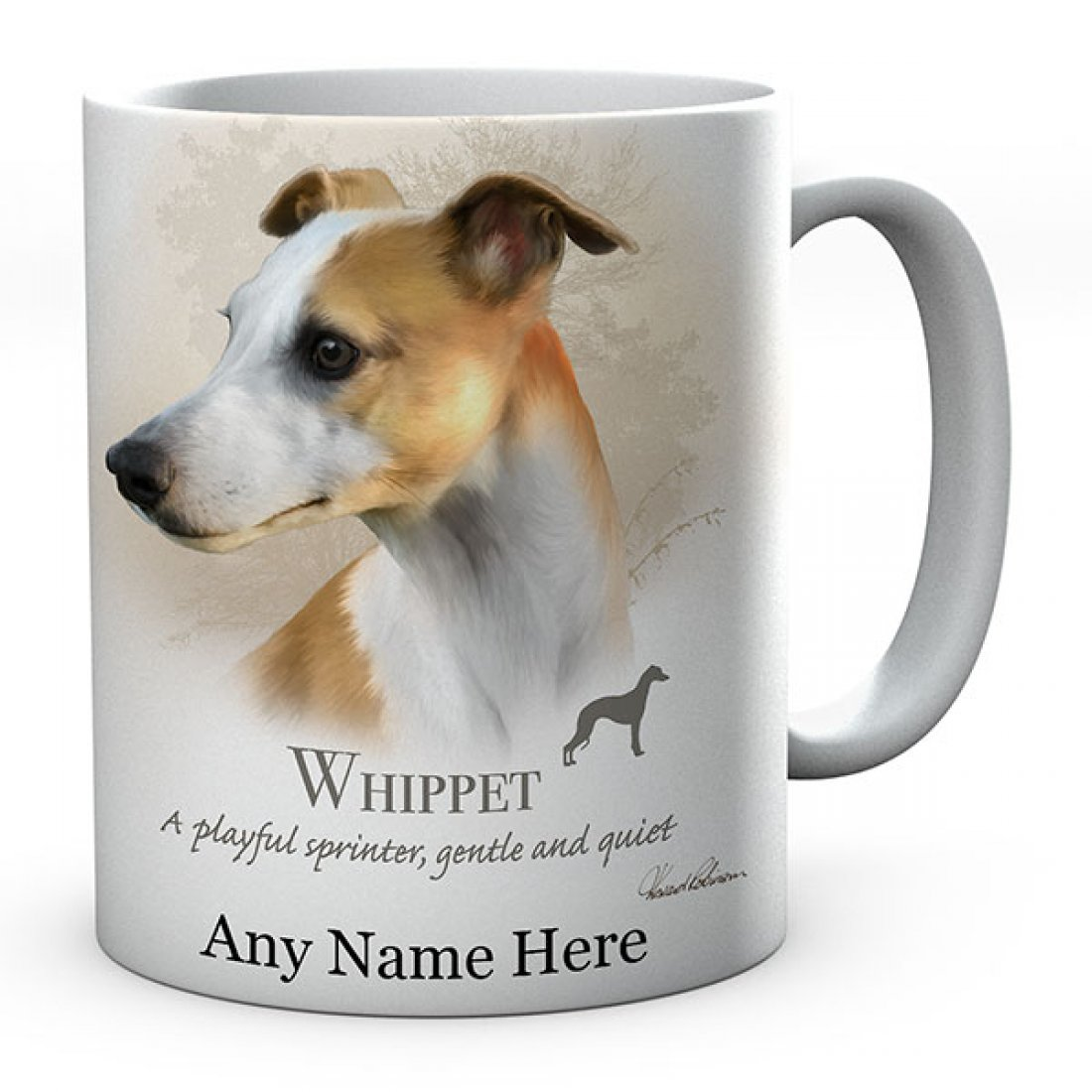 Personalised Whippet Dog Mug