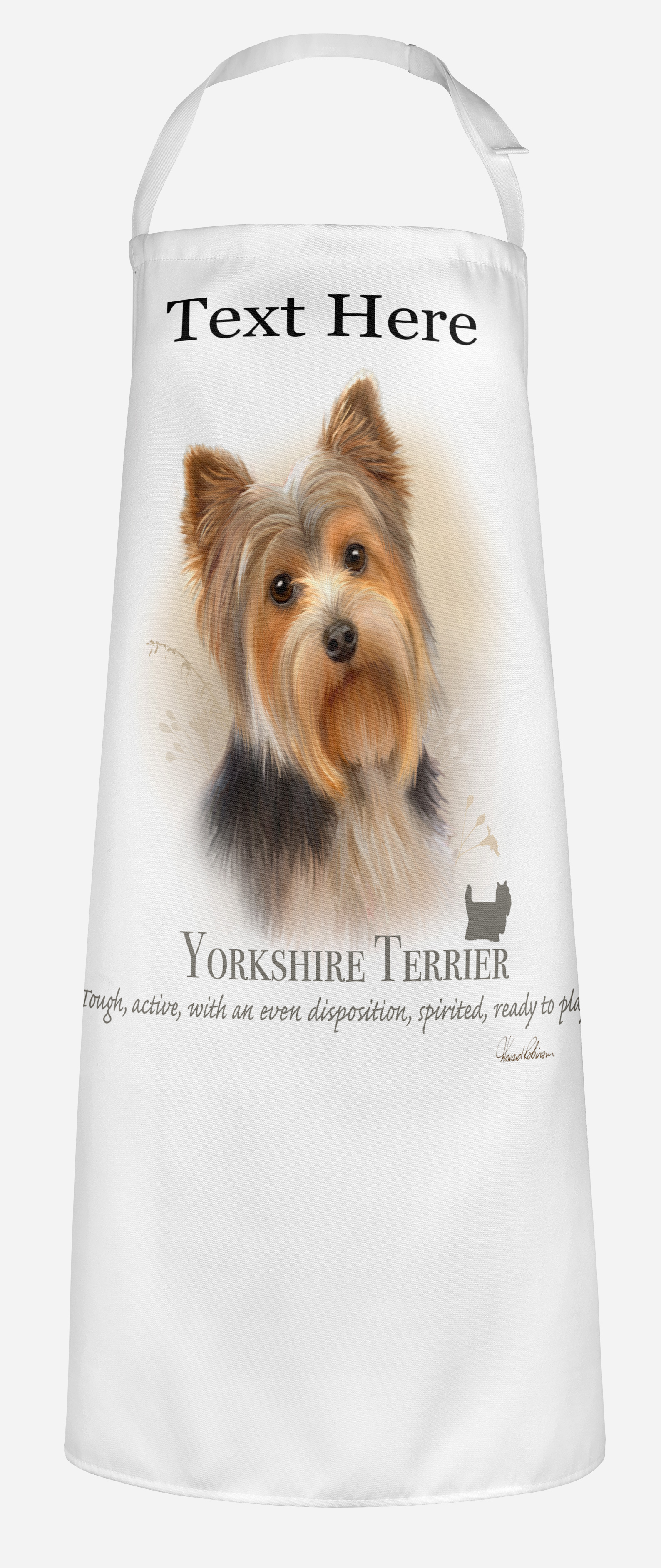 Personalised Yorkshire Terrier Dog Apron.
