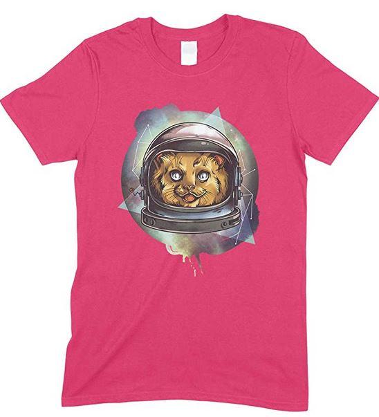 Children's Space Cosmic Kitty Funny Unisex T Shirt Boy/Girl