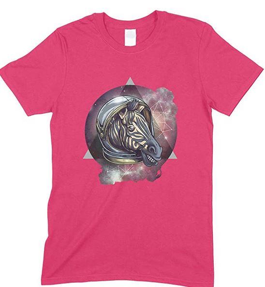Children's Space Cosmic Zebra Funny Unisex T Shirt Boy/Girl