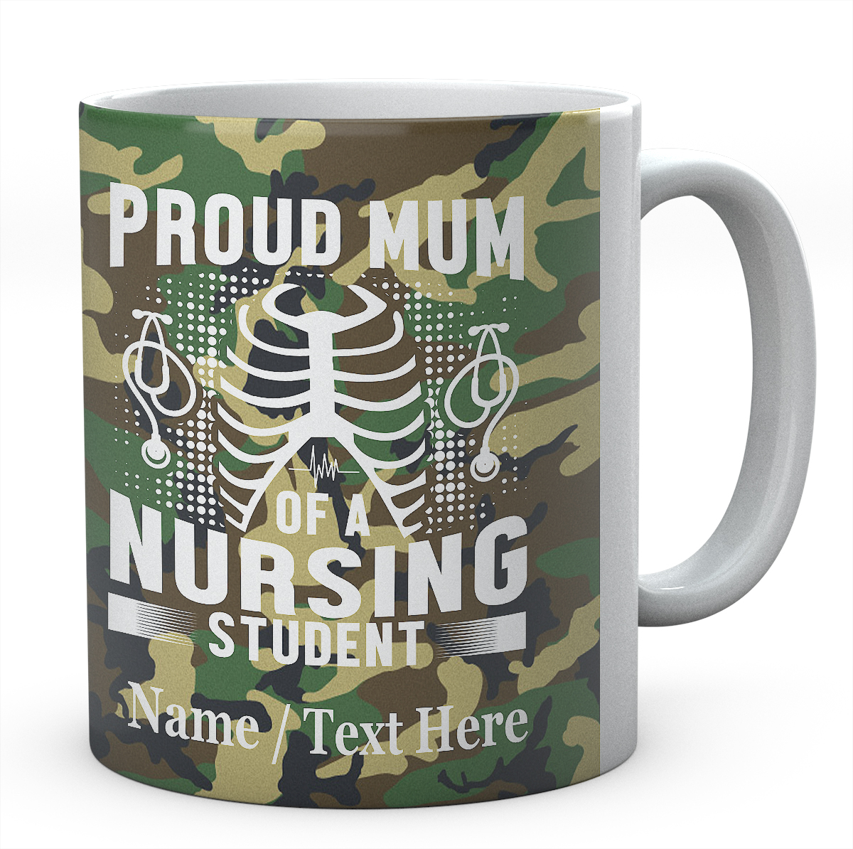 Proud Mum of A Nursing Student -Personalised Name Mug