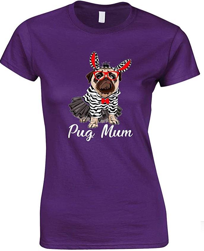 Pug Dog Mum -Ladies T Shirt Design 2