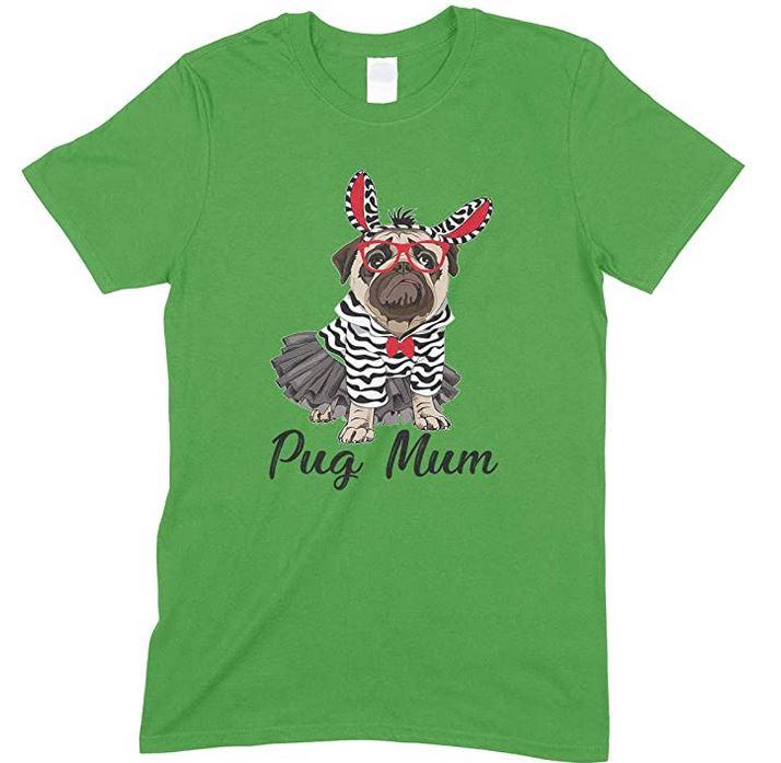 Pug Mum T Shirt Design 2-Unisex Men's T Shirt