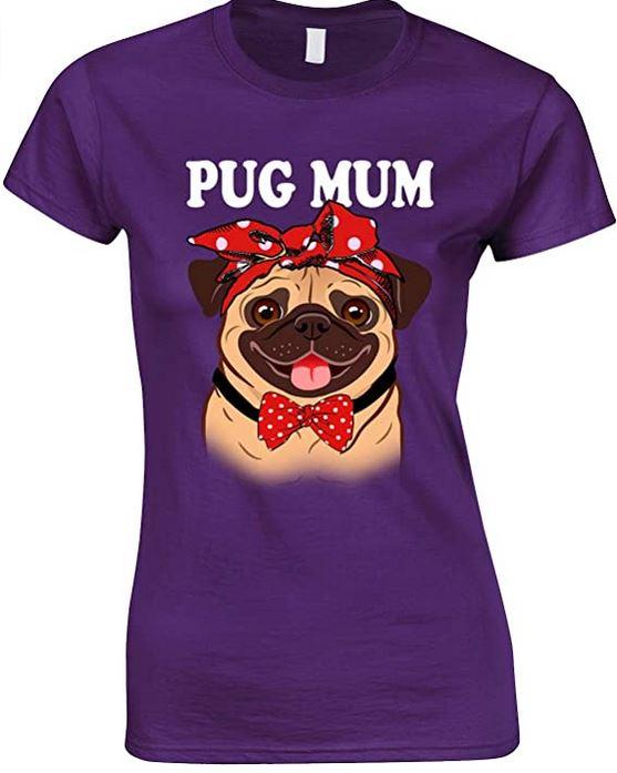 Pug-Mum  Funny Ladies Novelty T Shirt