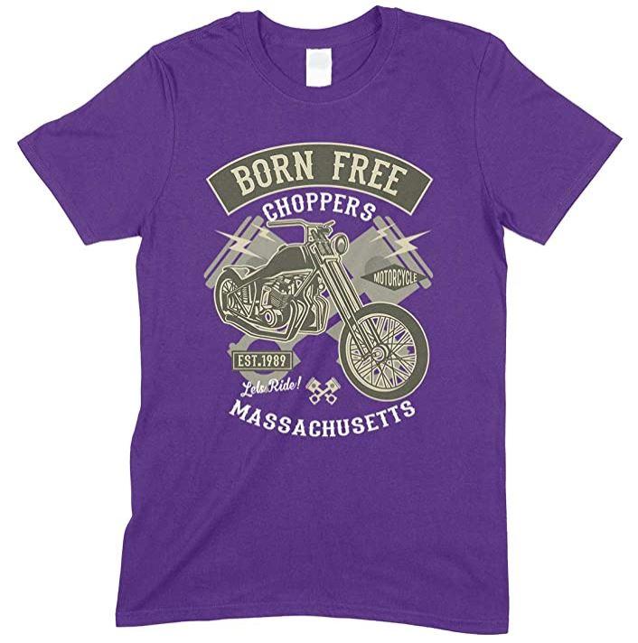 Born Free Choppers Massachusetts - Men's T Shirt