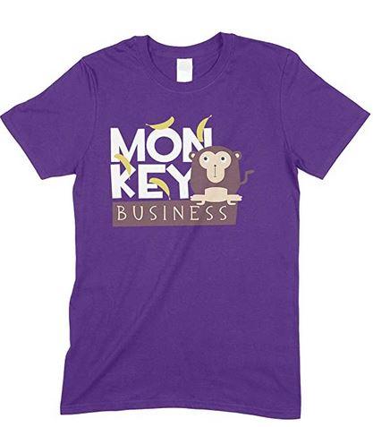 Child's Monkey Business T Shirt Unisex-Boy-Girl