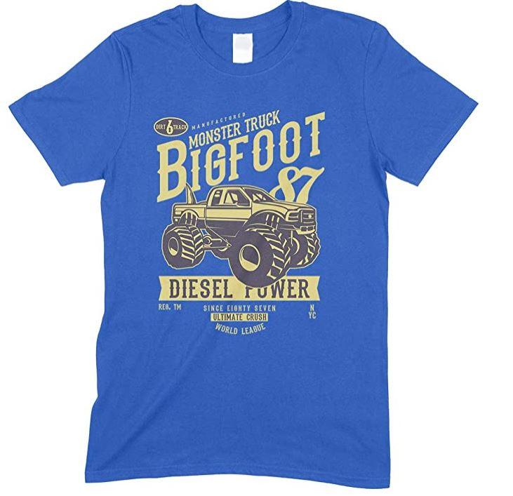 Children's Big Foot Monster Truck Vehicle - T Shirt Boy-Girl