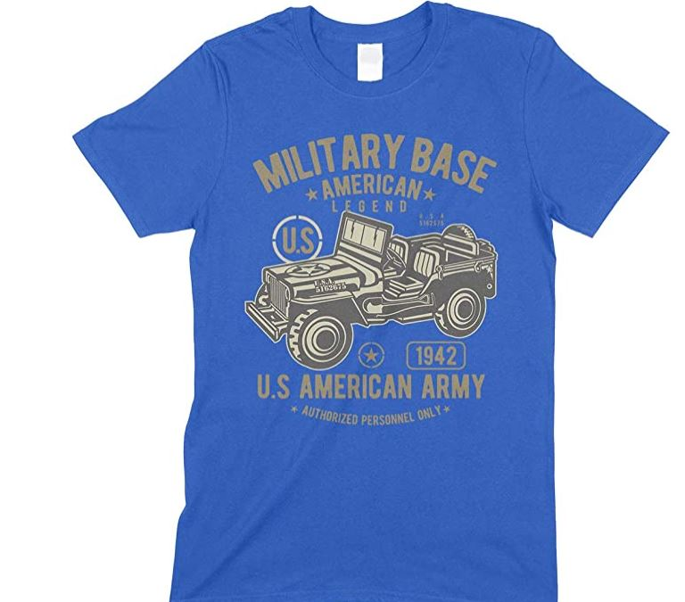 Military Base- American Legend -Army Jeep-Men's Unisex T Shirt