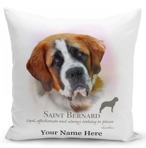 Saint Bernard Dog Cushion