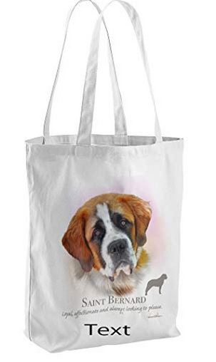Saint Bernard Dog Tote Shopping Bag