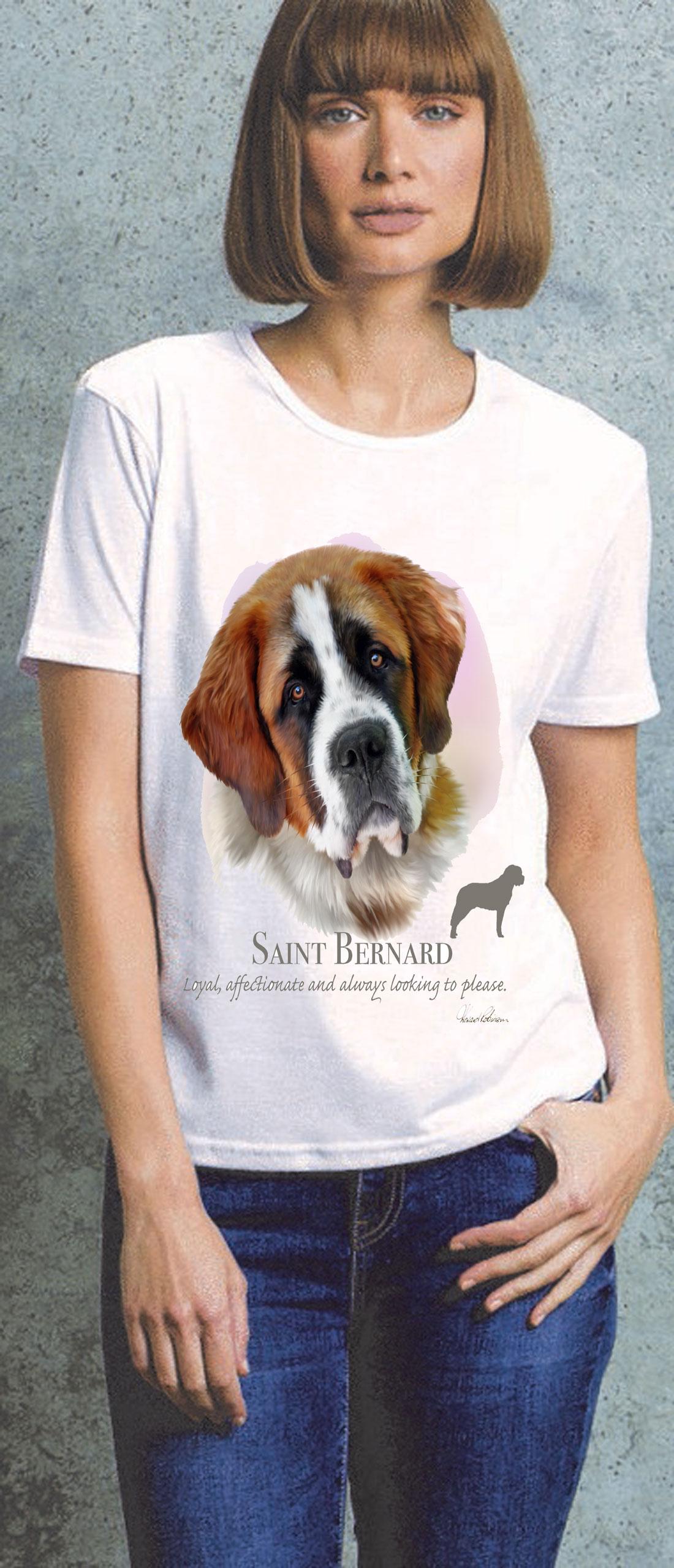 Saint Bernard Ladies T Shirt