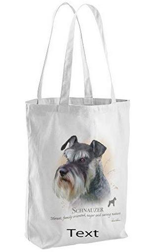 Schnauzer Dog Tote Shopping Bag