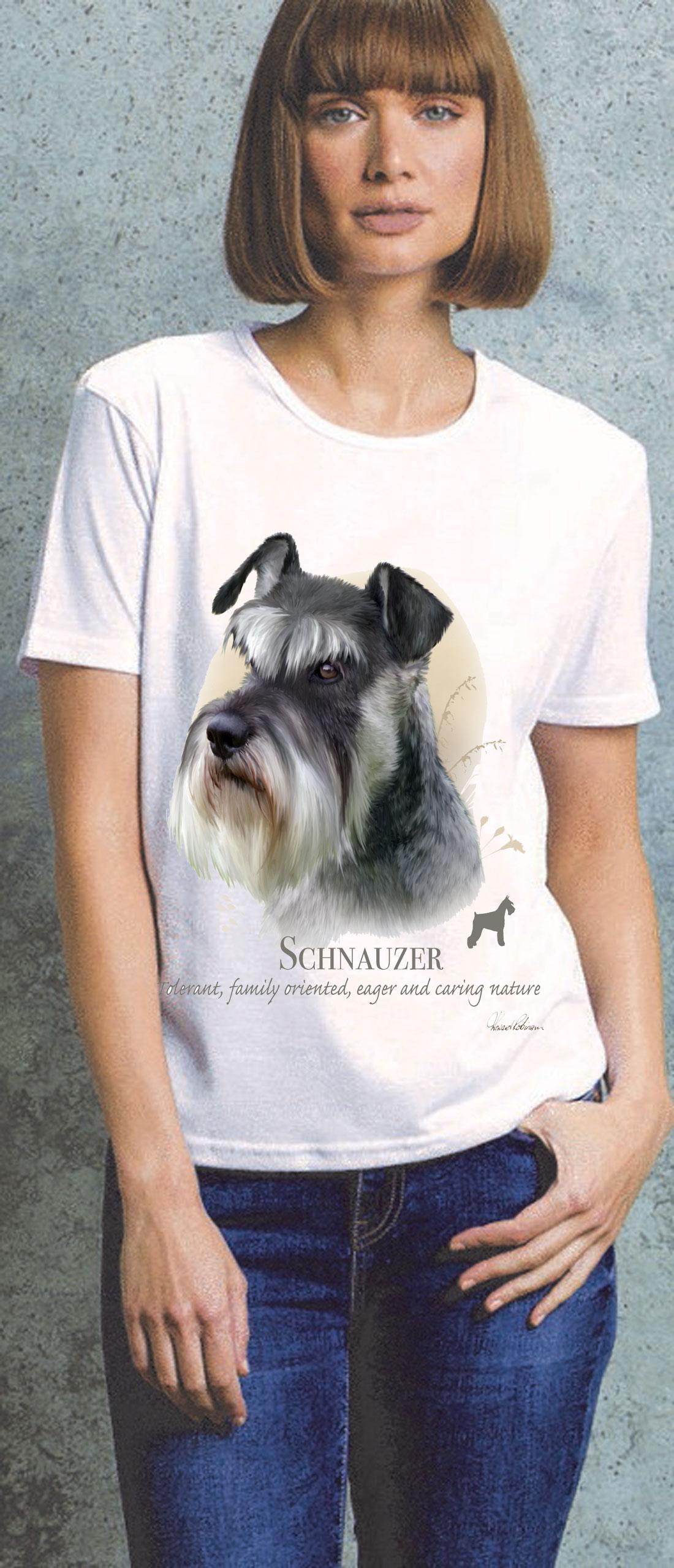 Schnauzer Ladies T Shirt
