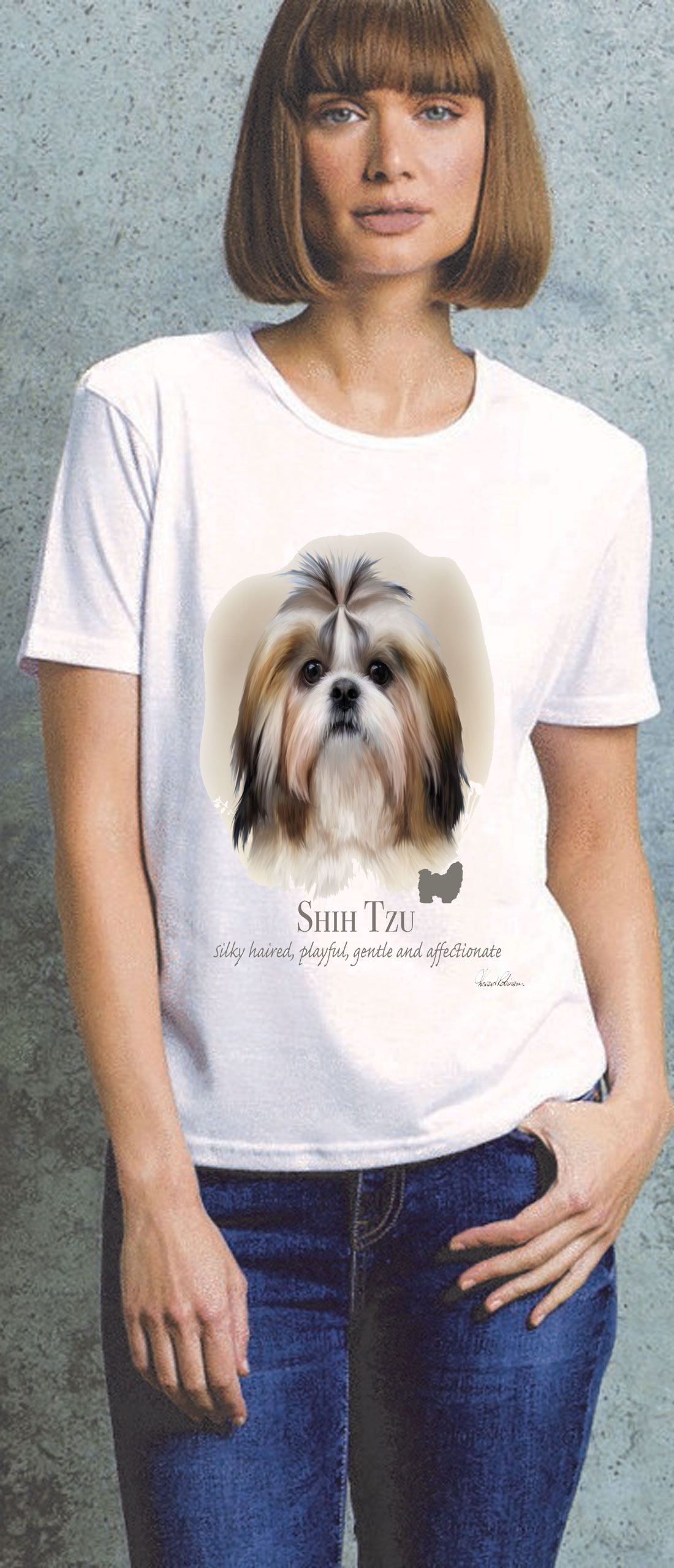 Shih Tzu Ladies T Shirt