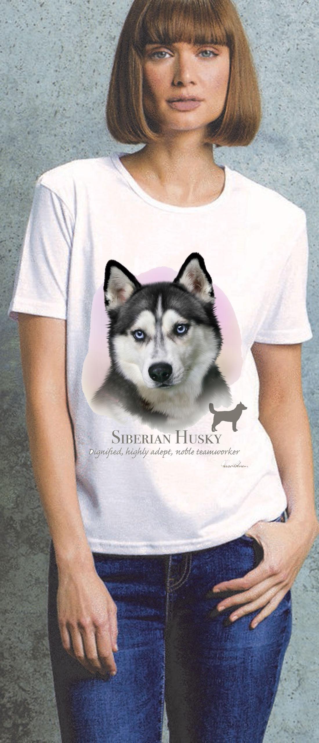 Siberian Husky Ladies T Shirt