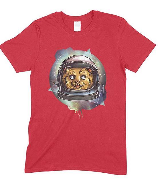 Space Cosmic Kitty, Men's Novelty T Shirt