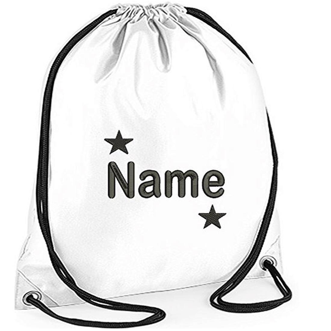 Personalised Embroidred STAR Drawstring Gym Bag