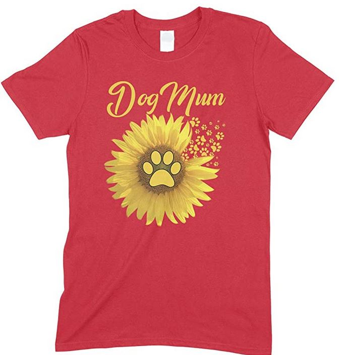 Funny-Sunflower Dog Mum -Unisex T Shirt