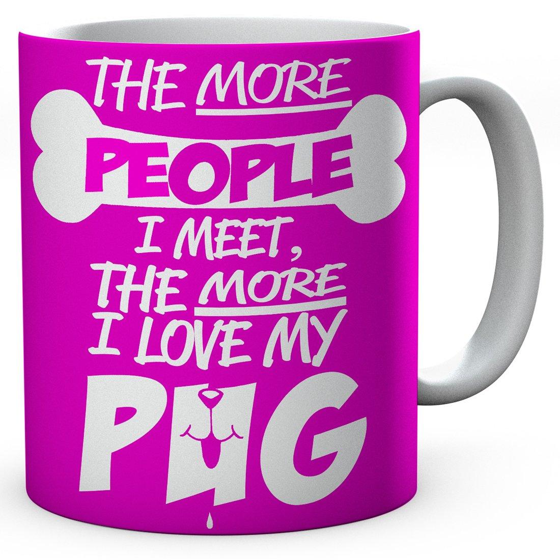 Funny Printed Pug Mug